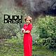 Платья ручной работы. Красное платье с контрастной отделкой. Dudu-dress. Ярмарка Мастеров. Красный, длинное платье, однотонное платье