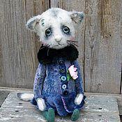 Куклы и игрушки ручной работы. Ярмарка Мастеров - ручная работа Цветочек. котенок тедди котик тедди. Handmade.