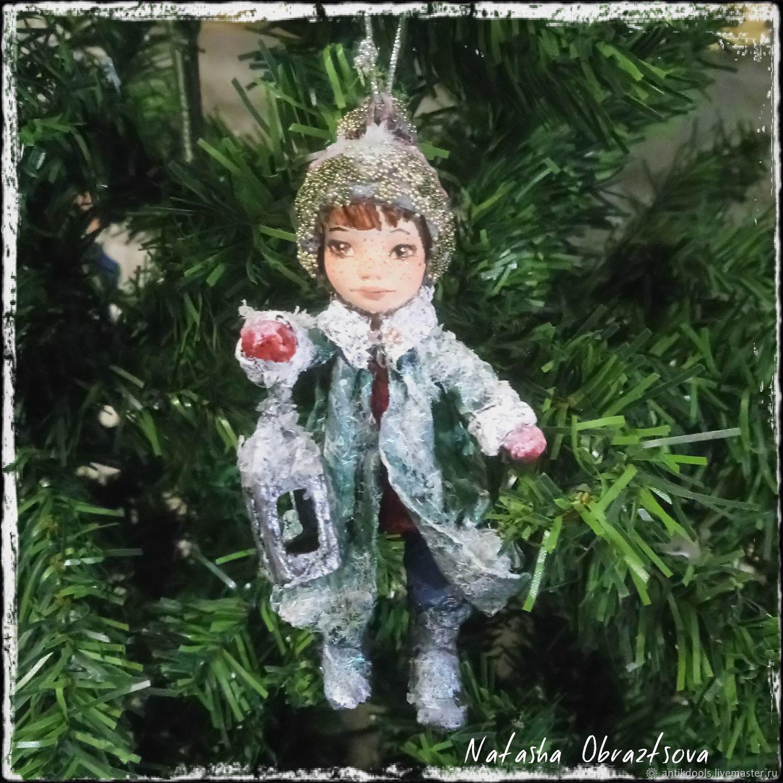 "Cotton Christmas toy ""Christmas lantern"" – shop online on Livemaster"