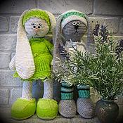 Куклы и игрушки ручной работы. Ярмарка Мастеров - ручная работа Печалька Кукла заяц тильда вязаный. Handmade.