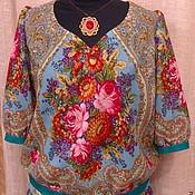 Одежда ручной работы. Ярмарка Мастеров - ручная работа Бирюзовый жар. Handmade.