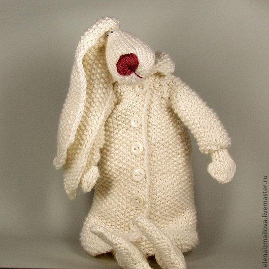 Детская ручной работы. Ярмарка Мастеров - ручная работа. Купить Грустная зайчиха в белом пальто. Handmade. Белый, заяц