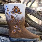 """Обувь ручной работы. Ярмарка Мастеров - ручная работа Сапожки из войлока """"Любава"""". Handmade."""