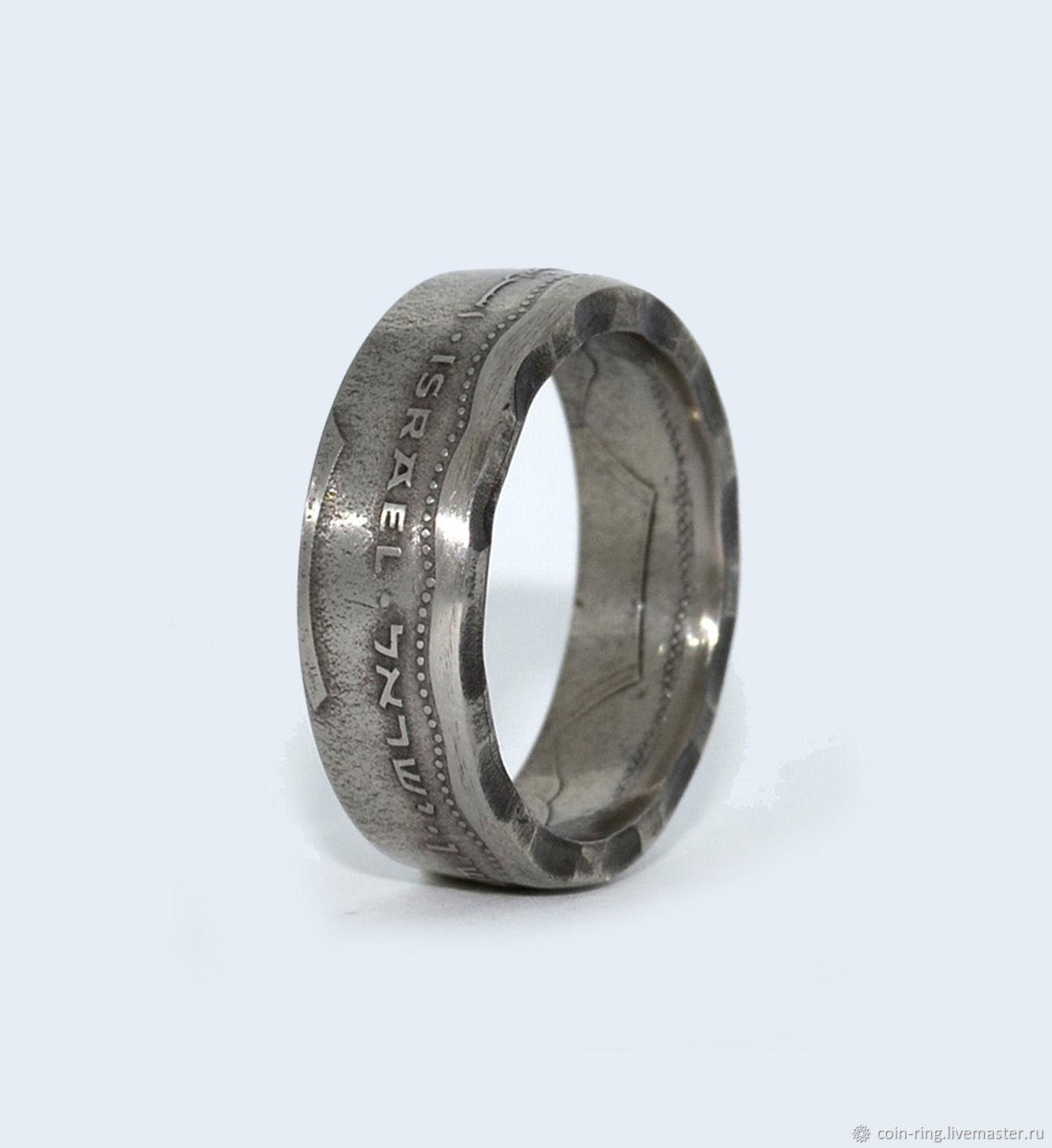 Ring from a twelve-sided coin of Israel 5 new shekels, Rings, Krasnoyarsk,  Фото №1