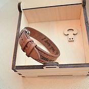 handmade. Livemaster - original item Men`s Adjustable BUFFALO Leather Bracelet. Handmade.