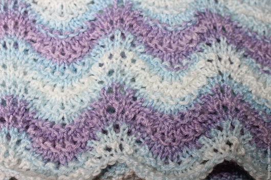 Текстиль, ковры ручной работы. Ярмарка Мастеров - ручная работа. Купить Вязаный плед. Handmade. Комбинированный, вязание на заказ, для детей
