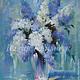 Картины цветов ручной работы. Ярмарка Мастеров - ручная работа. Купить натюрморт Сирень. Handmade. Разноцветный, сирень, сиреневый