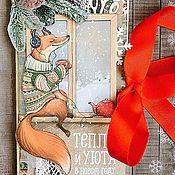 Открытки ручной работы. Ярмарка Мастеров - ручная работа Шоколадница к новому году. Handmade.