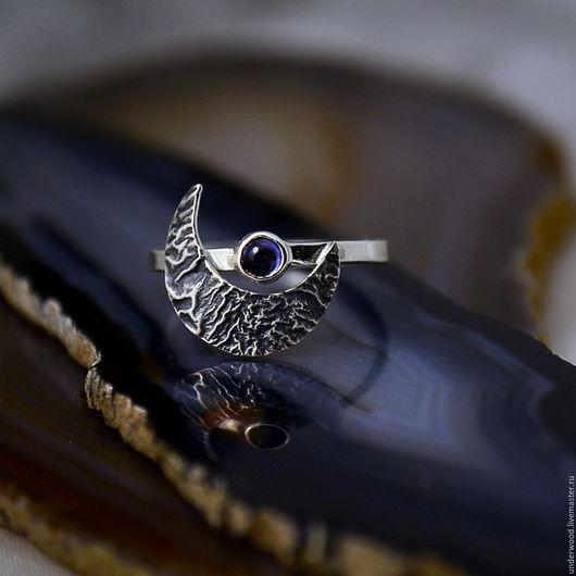 Кольца ручной работы. Ярмарка Мастеров - ручная работа. Купить Серебряное кольцо Лунный Серп. Handmade. Серебряный, месяц