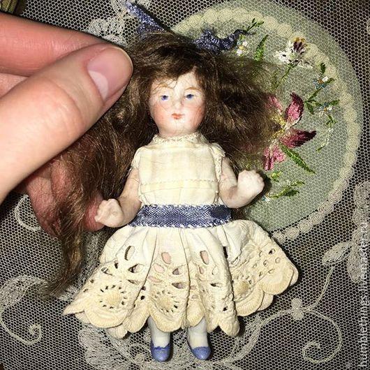 Винтажные куклы и игрушки. Ярмарка Мастеров - ручная работа. Купить антикварная mignonette куколка Limbach. Handmade. Бежевый, куколка, фарфор