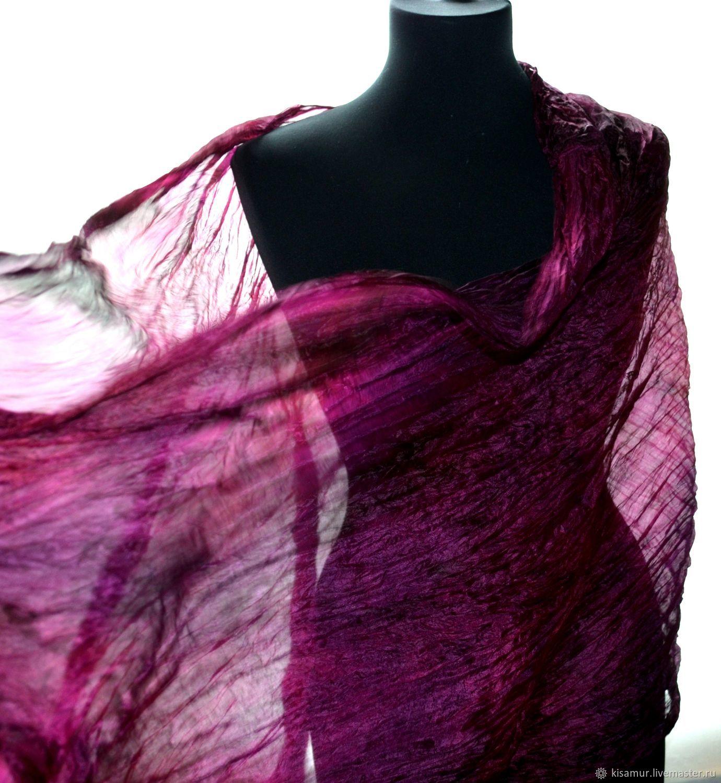 28692f229559a Scarves handmade. Livemaster - handmade. Buy Scarf silk black purple  women's long.