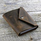 Канцелярские товары handmade. Livemaster - original item Leather notebook;LCD on a magnet. Handmade.
