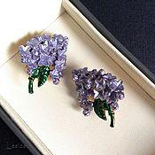Винтаж handmade. Livemaster - original item Clips Lilac USA. Handmade.