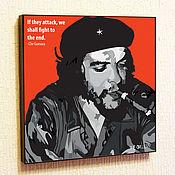 Картины и панно handmade. Livemaster - original item Painting a poster of Che Guevara Pop Art. Handmade.