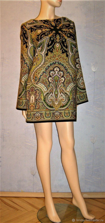 Dress from Pavlovsky Posad shawls ' Spanish', Dresses, Moscow,  Фото №1