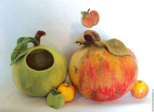 """Вазы ручной работы. Ярмарка Мастеров - ручная работа. Купить Вазы интерьерные """"Яблоки"""".. Handmade. Зеленый, ваза, шарообразный"""