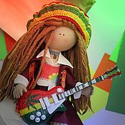 Куклы и игрушки ручной работы. Ярмарка Мастеров - ручная работа Кукла текстильная. Большеногая девочка. Боба. Handmade.