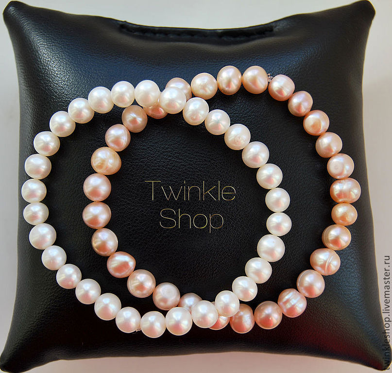 Exquisite bracelet of freshwater pearls, Bead bracelet, Moscow,  Фото №1