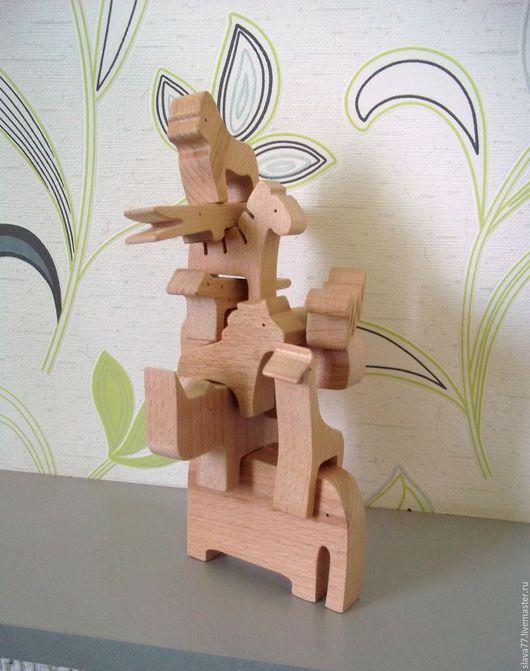 """Развивающие игрушки ручной работы. Ярмарка Мастеров - ручная работа. Купить Деревянный балансир""""Сафари"""". Handmade. Бежевый, игрушка, головоломка"""
