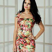 Платья ручной работы. Ярмарка Мастеров - ручная работа Платье с принтом 3D, платье летнее, платье с цветочным принтом. Handmade.