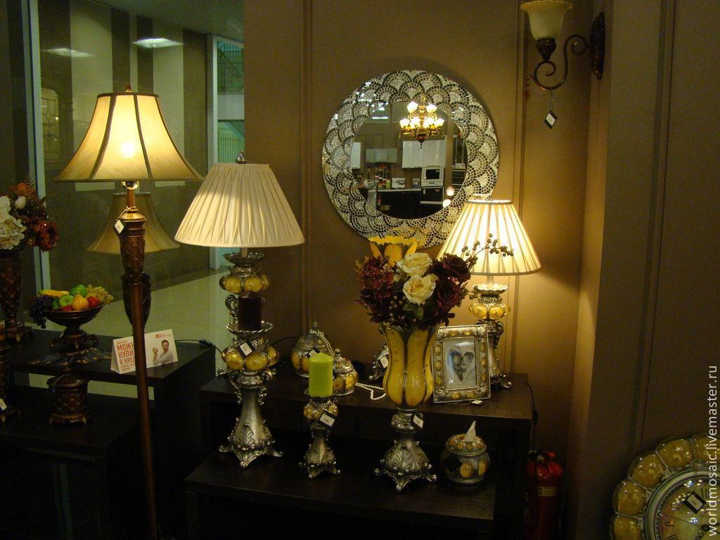 Mirrors handmade. Livemaster - handmade. Buy Mirror in mosaic frame, the 'petals'.Silver, mirror mosaic, stylish gift