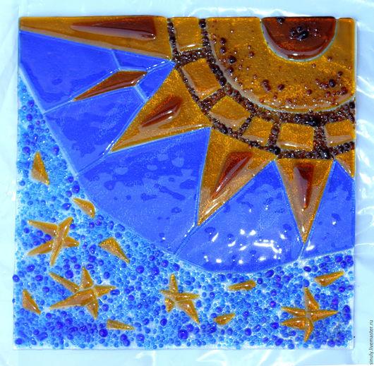 """Элементы интерьера ручной работы. Ярмарка Мастеров - ручная работа. Купить """"Звёздная ночь"""".Картина из стекла.Фьюзинг.. Handmade. Комбинированный"""