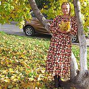 """Одежда ручной работы. Ярмарка Мастеров - ручная работа Длинное теплое платье """"Осеннее"""". Handmade."""