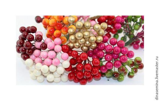 Ягодка шарик цветная на проволочке д 10мм  1 ягодка- 1,4руб Фасовка: пучок - 50р:  (в пучке 36 шариков/18 двухсторонних проволочек: 2 шарика на одной проволочке).