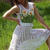 """Одежда ручной работы. Ярмарка Мастеров - ручная работа Вязаное платье """"Божественный Нарцисс"""". Handmade."""