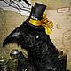 Мишки Тедди ручной работы. Ярмарка Мастеров - ручная работа. Купить Ворон HAPPY HALLOWEEN. Handmade. Черный, плюш винтажный