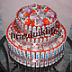 """Персональные подарки ручной работы. Ярмарка Мастеров - ручная работа. Купить Киндер торт """"мечта сладкоежки"""". Handmade. Разноцветный"""