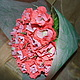 Цветы ручной работы. Ярмарка Мастеров - ручная работа. Купить Букет нежных роз. Handmade. Коралловый, необычный подарок