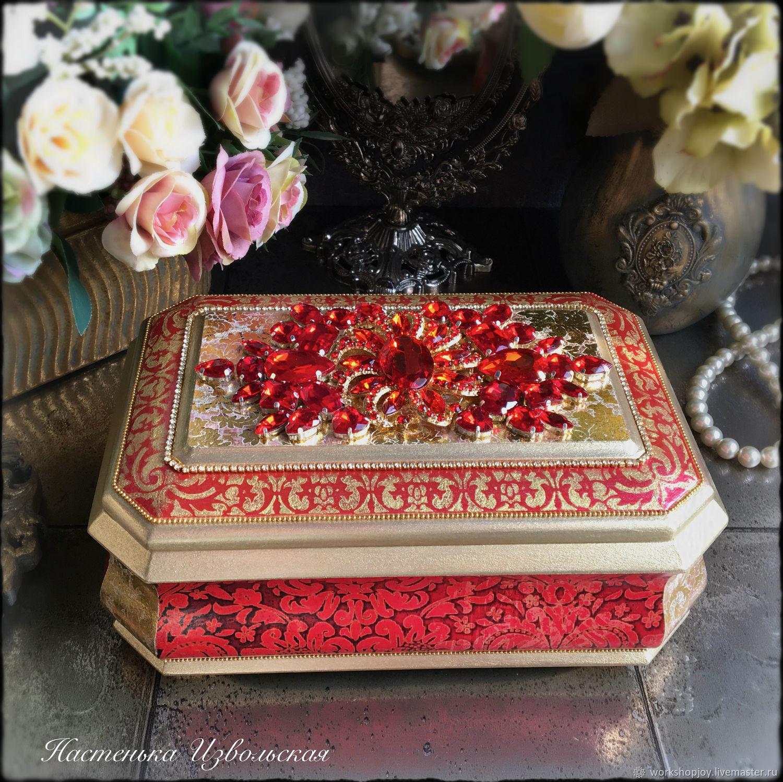 """Ларчик """"Rouge"""" ручной работы, Шкатулки, Санкт-Петербург,  Фото №1"""