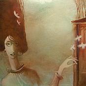 Картины и панно ручной работы. Ярмарка Мастеров - ручная работа Учительница ботаники. Handmade.