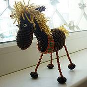 Куклы и игрушки ручной работы. Ярмарка Мастеров - ручная работа Лошадка из бисера, Гоша. Handmade.