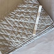 Для дома и интерьера handmade. Livemaster - original item Linen mattress pad. Natural. 100% linen. Softened. NO SYNTHETIC.. Handmade.