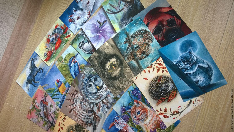 Картинки, много почтовых открыток