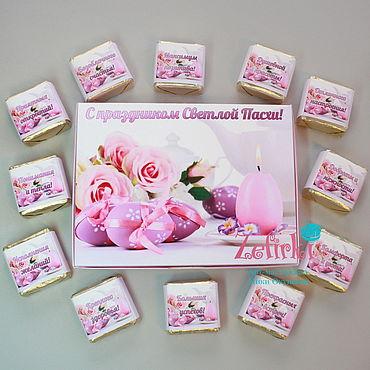 Подарки к праздникам ручной работы. Ярмарка Мастеров - ручная работа На пасху Шокобокс конфеты в коробочке подарок. Handmade.