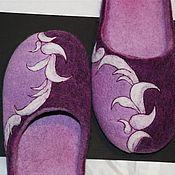 """Обувь ручной работы. Ярмарка Мастеров - ручная работа Тапочки валяные """"Узор"""". Handmade."""