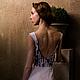 """Платья ручной работы. Платье с вышивкой из коллекции """"Дым"""". Ирловин. Интернет-магазин Ярмарка Мастеров. Платье, платье с вырезом, шифон"""