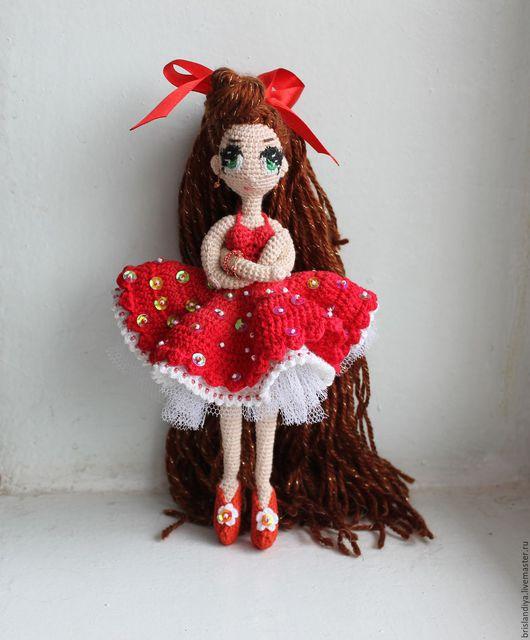 Коллекционные куклы ручной работы. Ярмарка Мастеров - ручная работа. Купить Связанная крючком кукла Мухоморка. Handmade. Ярко-красный