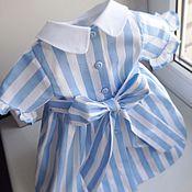 Работы для детей, ручной работы. Ярмарка Мастеров - ручная работа Сан Тропе летнее платье для девочки. Handmade.