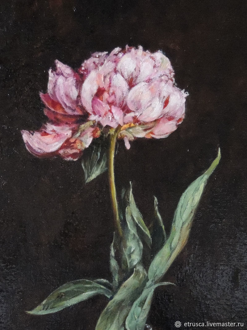 The peony is gorgeous. Sarah Bernhardt. diptych, Pictures, Moscow,  Фото №1