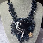 Украшения handmade. Livemaster - original item Salamander pendant in black agate. Handmade.