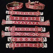 Русский стиль ручной работы. Ярмарка Мастеров - ручная работа Обручья или наручи(браслеты) тканые на бердо. Handmade.