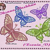 """Схемы для вышивки ручной работы. Ярмарка Мастеров - ручная работа Дизайны  машинной вышивки """"Влюбленные бабочки"""". Handmade."""