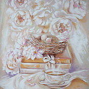 Картины и панно handmade. Livemaster - original item morning tea. Handmade.