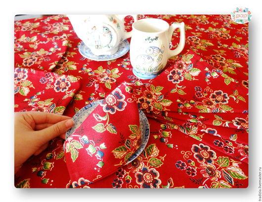 Текстиль, ковры ручной работы. Ярмарка Мастеров - ручная работа. Купить Праздничный набор: скатерть, полотенца и салфетки. Handmade.
