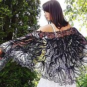 Аксессуары handmade. Livemaster - original item Openwork shawl - moonlit night. Handmade.