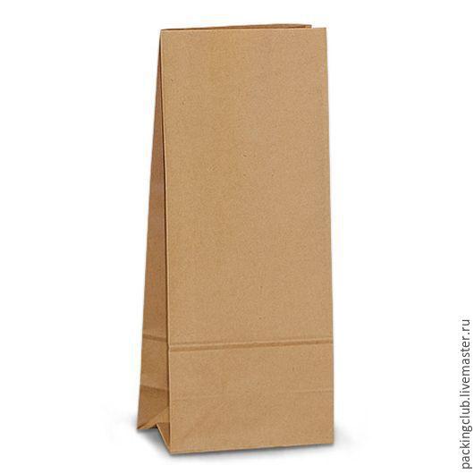 Упаковка ручной работы. Ярмарка Мастеров - ручная работа. Купить Крафт пакет с объемным дном 200х80х50мм. Handmade. Коричневый, крафт